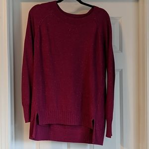 Old Navy bateau sweater, berry neps, size L
